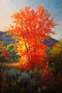 Evening Fire,, Douglas Aagard