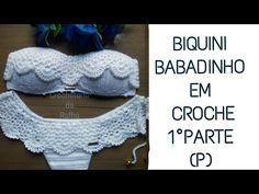 Biquini em crochê (P) babadinho 1°parte - YouTube Bikinis Crochet, Crochet Bra, Baby Afghan Crochet, Crochet Crop Top, Baby Afghans, Crochet Blouse, Crochet Clothes, Crochet Hats, Crochet Stitches Patterns