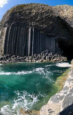 Fingal's Cave of Island of Staffa, Scotland