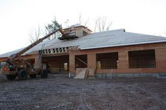 December 18th 2012 - This is a view from the front of the new office. It's really movin' along.