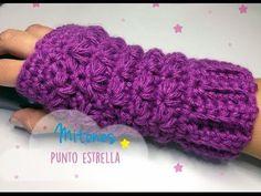 Mitones en punto estrella crochet - Woolly & Stitched
