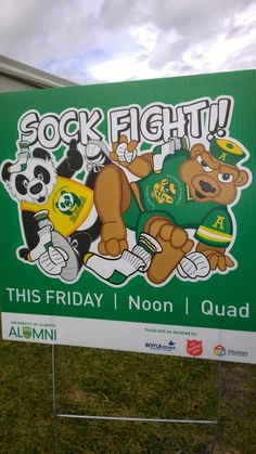 University of Alberta -- The Sock Fight - YouAlberta: From the Tuck Shop with Love: Celebrating the Green & Gold University Of Alberta, Best University, Student Life, Green And Gold, Sock, Panda, Sorority Sugar, Student Living, Socks