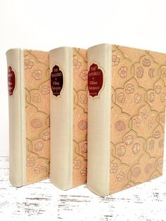 Peach and Mint Books ~ Shakespeare  by beachbabyblues on Etsy, $88.00