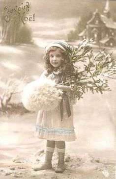 Image result for vintage victorian christmas girl