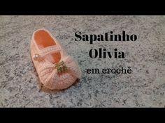 Sapatinho Olivia em crochê - YouTube