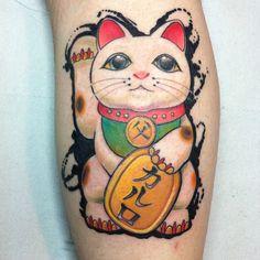 #maneki#neko#tattoo #eliseofranchini