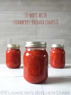 about Strawberry rhubarb on Pinterest | Rhubarb compote, Rhubarb ...