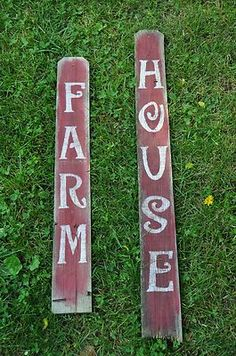 Primitive Farm House Wood Signs Fencing Wood Rustic Folk Art Country Home Decor