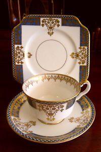 "Salisbury China ""PANEL"" Tea Cup Saucer Plate Trio c1930 #ebay"