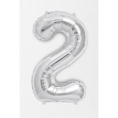 Silver Number 34 Inch Party Balloon ($2.99) ❤ liked on Polyvore featuring two