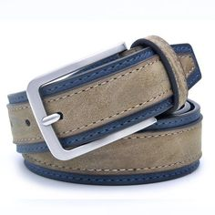 Casual Patchwork Men Belts Designers Men Belt Trends Trousers With Three Color To Choose Belt Length Inch Color BrownNavy – steve ashurst - Luxery Faux Leather Belts, Leather Buckle, Leather Men, Bonded Leather, Men's Accessories, Mens Tan Belt, Mens Belts Fashion, Fashion Men, Scrappy Quilts