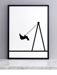 Swing Rabbit Screen Print