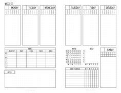 Mit Dropbox freigegeben home planner To Do Planner, Planner Pages, Printable Planner, Planner Journal, Printables, Planner Template, Planner Inserts, Weekly Planner, Bullet Journal Overview