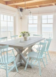 Coastal Cottage Decorating Blogs Beach Cottage Dining Room Sets