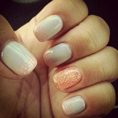 Your basic polish + dusts of glitter = NEXT LEVEL NAILS. | 23 Things Instantly Improved By Glitter