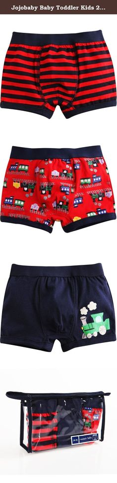 Jojobaby Baby Toddler Kids 2T-7T Boys Boxer Brief 3-pack Underwear Set (4-5 Years, Red-Truck). Product Info : Made with 100% natural cotton and designed stylish and fit snugly for your kids. Wide eleastic waist band is confortable, non-slip and painless. Each sets is enveloped in reusable zipper-locking plastic bag, Good for Gift. .