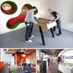 Espace de travail collaboratif et salle de repos avec for Espace de travail collaboratif