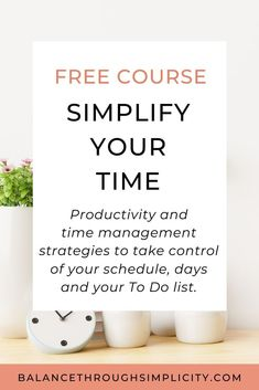 Take my FREE 5-day email course to help you be more intentional with your time.Create more time, be more productive and make the time you do have work better for you.Stop your days (and your time) running away from you! #time #simpliforcation #simplify #time #timemanagement Look After Yourself, Work On Yourself, Improve Yourself, Time Management Strategies, Good Time Management, Self Care Activities, Feeling Overwhelmed, Make Time, Simple Living
