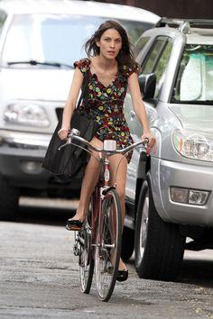 18 Celebs Who Bike in Style  - HarpersBAZAAR.com