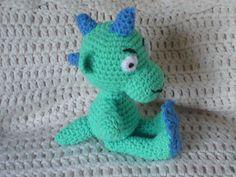 Crocheted baby dragon - Gehaakte baby draak
