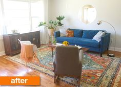 Before & After: A Living Room Gets Lighter, Brighter (& Now Looks) Bigger!