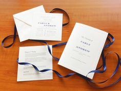 We love these crisp white Classic cards with navy highlight. The fonts chosen added a modern touch.
