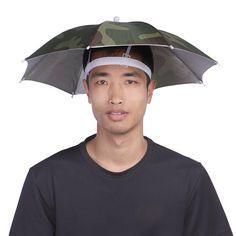 "20"" Umbrella Hat Headwear Camouflage Pattern Sun Rain Umbrella Hat Cap for Outdoor Activities Fishing Hiking Beach Camping"