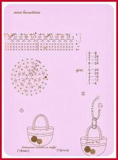 Crochet Diagram, Crochet Chart, Diy Crochet, Crochet Dolls, Crochet Baby, Crochet Patterns, Accessoires Barbie, Crochet Keychain, Crochet Potholders
