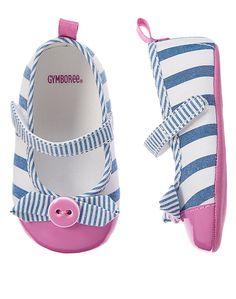 Gymboree Bow Stripe Crib Shoes