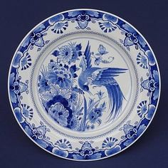 Royal Delft - Bird tattoo