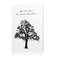 Dankeskarte Lebensbaum in Weiss - Klappkarte hoch #Trauer #Danksagungskarten #elegant https://www.goldbek.de/trauer/danksagungskarten/dankeskarte-lebensbaum?color=weiss&design=9e089&utm_campaign=autoproducts