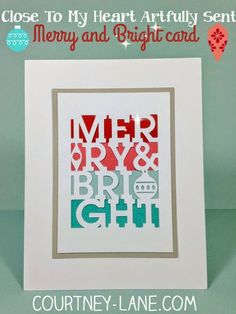 Twenty Six Close To My Heart Artfully Sent Cricut Cartridge projects!