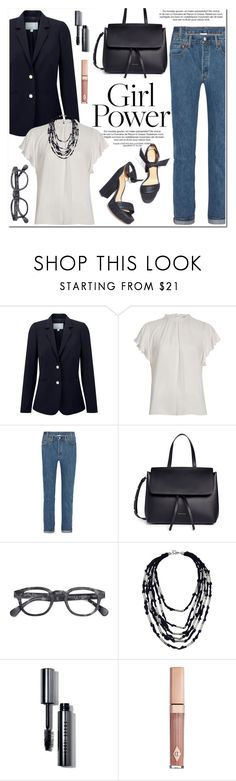 """What's Your Power Look?"" by helenevlacho ❤ liked on Polyvore featuring Pure Collection, River Island, Vetements, Mansur Gavriel, French Connection, Bobbi Brown Cosmetics, contestentry and MyPowerLook"