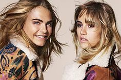 Cara Delevigne and Suki Waterhouse for Burberry