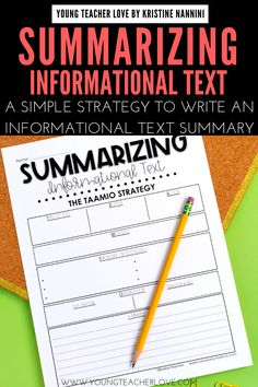 Do your students need help summarizing informational text? Use the TAAMIO strategy to write great informational text summaries. Stages Of Writing, Summary Writing, 4th Grade Reading, Guided Reading, Teaching Reading, Learning, Teaching Main Idea, Teaching Ideas, Transition Words