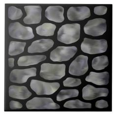 """Grey Stone Stained Glass"" Pattern Ceramic Tile. Excellent for tile works projects. Option to add Text.  Add a wooden frame and use as a trivet. Add a black lacquer wooden box in 5"" and 7"" square sizes to make a lovely complement and gift in the $30 range.  http://www.zazzle.com/grey_stone_stained_glass_ceramic_tile-227799862830836664?rf=238301468915483943    #Tiles #GreyStone #DecorativeBoxes #HomeDecor #GreyStoneTiles"