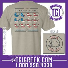 TGI Greek -Pi Kappa Alpha - Comfort Colors - Greek Apparel #tgigreek #pikappaalpha  #comfortcolors #greektshirts