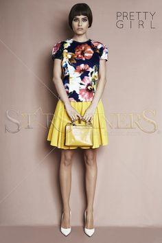 PrettyGirl First Hint Yellow Skirt
