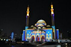 Al Noor Mosque in Uae Sharjah city