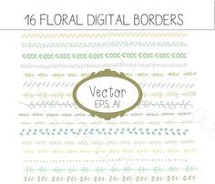 Frontières Floral VECTOR clipart frontières de par Thelittleclouddd