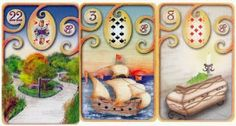 A Little Lenormand Wisdom for Friday:  PATH + SHIP + COFFIN (Deck: Magisches Lenormand). A fork in the road may take you to a dead end that holds no further options.  Make your decisions with care today so that hopefully you can avoid making choices that will put you in a rut or create stagnation. Sharon Brown, Fork In The Road, Learning Cards, Oracle Cards, Coffin, Choices, Charms, Deck, Friday
