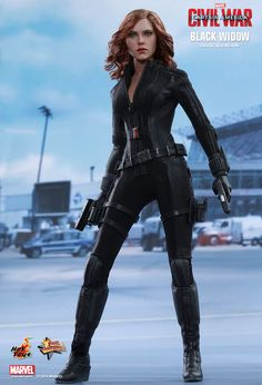 Scarlett Johansson as Black Widow in the film