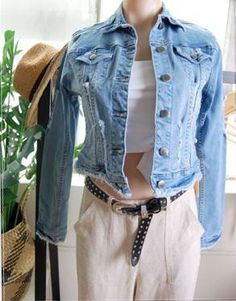 Crop Denim Jacket The Sound of White Boutique Port Noarlunga Seven Wonders, Cropped Denim Jacket, Boutique, Jackets, Shopping, Collection, Tops, Fashion, Down Jackets