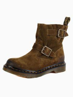 Suede Buckle Biker Boots - Choies.com