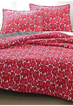 marimekko® Piene Unikko Red Quilt - Online Only
