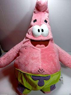"30"" Patrick Starfish SpongeBob Soft Stuffed Animal Toy or Cuddle Pillow #Nickelodeon"