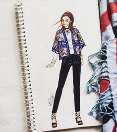 Fashion illustration sketches inspiration pencil for 2019 Love Fashion, Fashion Art, Girl Fashion, Winter Fashion, Fashion Outfits, Womens Fashion, Fashion Design Sketchbook, Fashion Design Drawings, Fashion Sketches