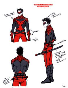 Damian got me thinking… I think he'd be a combination of Robin + Nightwing + samurai/ninja-assassin. He'd work solo and mostly down-low, like Cass, but can be flashy at times due to his. Superhero Art Projects, Superhero Design, Damian Wayne, Game Character Design, Character Design Inspiration, Character Concept, Character Modeling, Comic Character, Batman Redesign
