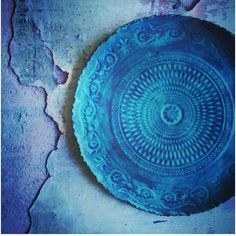 Stunning picture of my blue ceramic plate. Itsajook.com