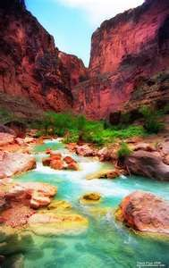 havasupai ...two day hike just to get there...